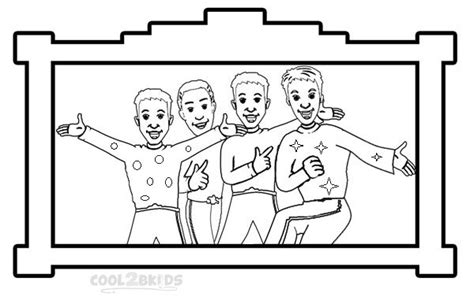 printable wiggles coloring pages  kids
