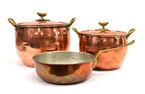 italian ruffoni hammered copper cookware april estates auction austin auction gallery