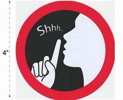 Shhh Sign Silence Warning Office Sticker Clipart