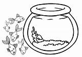 Fish Bowl Coloring Outline Outside Clipart Pages Sheet Drawing Empty Jellyfish Printable Goldfish Cliparts Fishbowl Tank Cut Clip Activities Paste sketch template