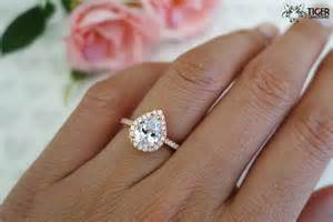 make your own engagement ring 1 5 carat pear cut halo engagement ring flawless by