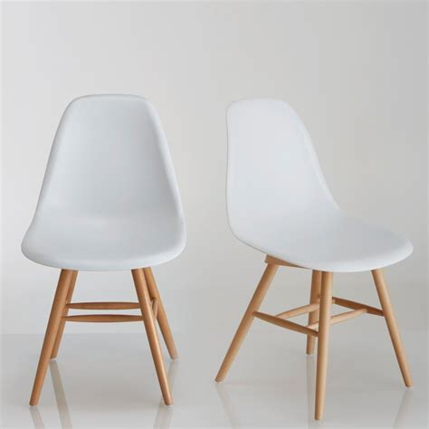chaises couleur chaises scandinaves couleur lot de 2 chaises design