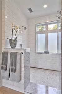 open shower bathroom design open shower open shower with half wall open shower without doors and marble tiling openshoer
