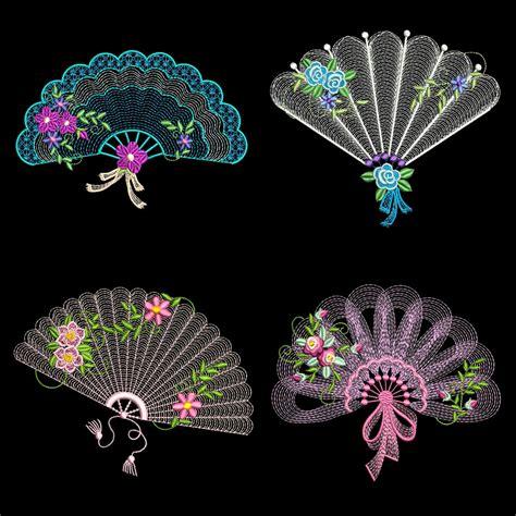 machine embroidery designs applique fans 30 machine embroidery designs azeb ebay