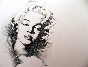 Marilyn Monroe Drawing by Michael Damico