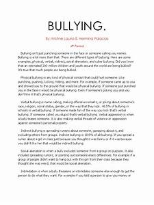 High School Sample Essay Bullying In Schools Essay Examples Spm  How To Do Assignments Thesis Statement Examples For Narrative Essays also Proposal Essay Format Bullying Essay Examples Help Writing A Thesis Statement Cyber  Essay On Healthy Eating