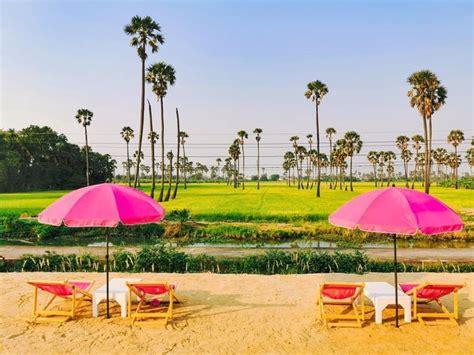 The Aileen Cafe คาเฟ่เก้าอีชายหาดสีชมพู พร้อมวิวทุ่งนาและ ...