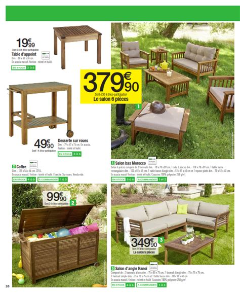 carrefour mobilier de jardin cataloguespromo com