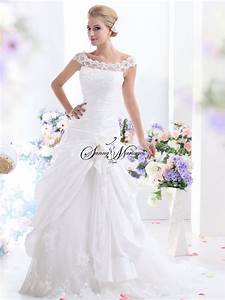 Robe Mariage Dentelle : robe de mariee en taffetas manches dentelle sunny mariage ~ Mglfilm.com Idées de Décoration