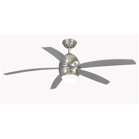 allen and roth ceiling fans shop allen roth 52 in secor polished nickel ceiling fan