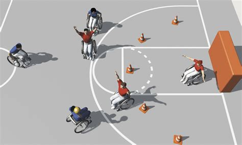 jeux de fauteuil roulant sport en fauteuil roulant exercices de base pour jeux d 233 quipe balle au but 187 mobilesport ch