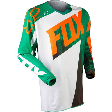 kids motocross jersey fox racing new mx kids 180 vandal green orange motocross