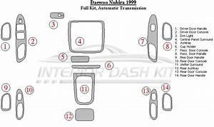 Daewoo Nubira 1999 Dash Trim Kit  Full Kit  Automatic