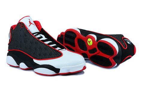 Air Jordan 13 Custom Black White University Red Men Aj13