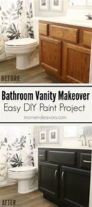 Bathroom vanity makeover easy diy home paint project for How to repaint bathroom