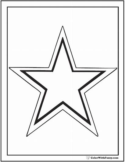 Coloring Star Pages Outline Printable Pdf Colorwithfuzzy