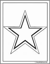 Coloring Star Pages Outline Printable Print Pdf Colorwithfuzzy sketch template