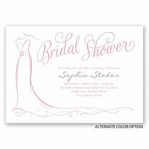 elegant bride bridal shower invitation invitations by dawn With elegant wedding shower invitations