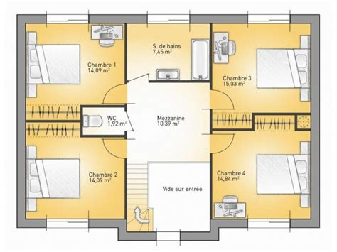 plan maison etage 4 chambres plans de maison 1er étage du modèle city maison