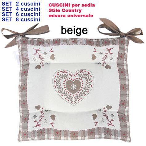 Cuscini X Sedie by Cuscini Per Sedie Country Con Cuscini Per Sedie In Stile