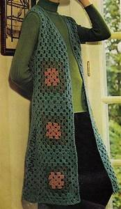 Make A Granny Squares Vest  Easy Instructions With Diagram