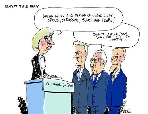 cartoon  mays brexit plan euractivcom