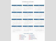 Calendario 2017 con días festivos Calendario de Colombia