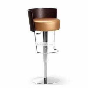 Tabouret De Bar Cuir : tabouret r glable en cuir bongo et tabourets de bar par midj ~ Teatrodelosmanantiales.com Idées de Décoration