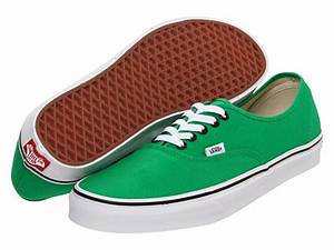 Vans Authentic Sneakers Bright Green Black for Women