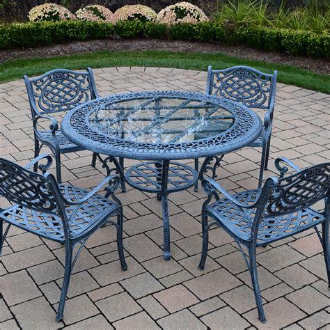 oakland living mississippi 5 cast aluminum patio