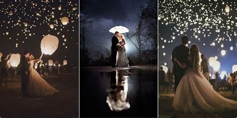 romantic night wedding photo ideas   wonna