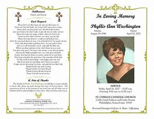 funeral program templates download free premium With funeral handouts template