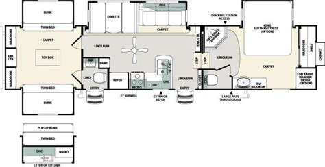 fifth wheel bunkhouse floor plans northside rvs