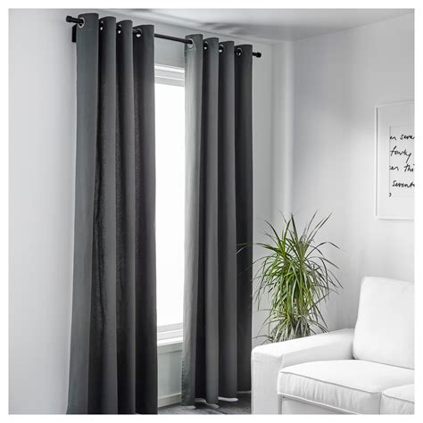 white and gray curtains ikea merete curtains 1 pair grey 145x250 cm ikea