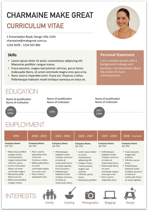 creating a visual resume make great