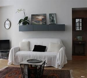 étagère Murale Salon : le shabby chic contemporain d 39 un appartement parisien ~ Farleysfitness.com Idées de Décoration