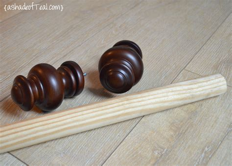 wood curtain rods diy wood curtain rod for 20 a shade of teal