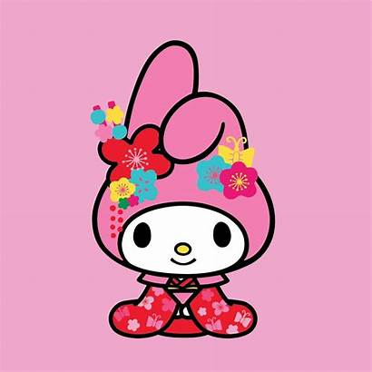 Sanrio Hello Melody Kitty Characters Friends Flower