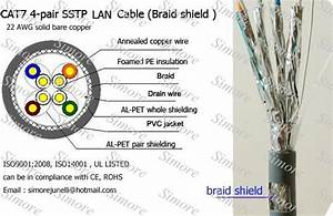 Cat7 Sstp Lan Cable For Network Copper Conductor Id