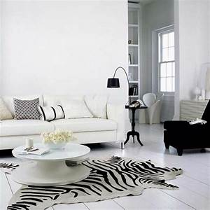 le tapis zebre en 50 photos avec beaucoup d39idees With tapis de course pas cher avec canapé style baroque moderne