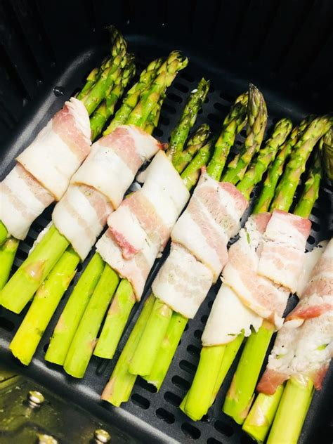 air asparagus fryer bacon wrapped