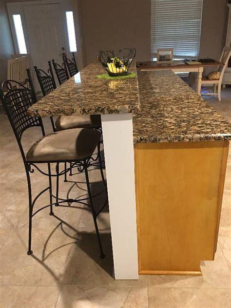 high   knee wall   granite countertops  original granite bracket