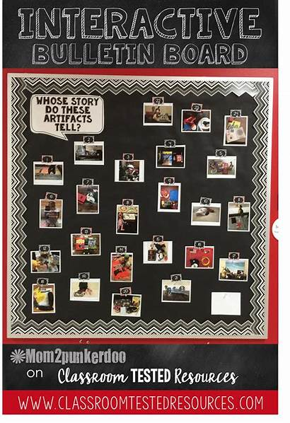 Personal Classroom Bulletin Artifacts Board Boards Interactive