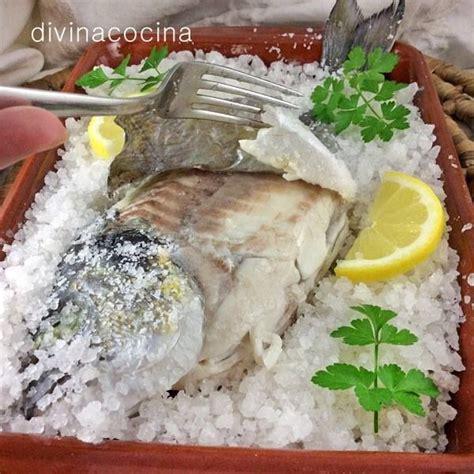 receta de dorada  la sal en el microondas cocina