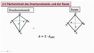 Raute Flächeninhalt Berechnen : 3 5 fl cheninhalt des drachenvierecks und der raute youtube ~ Themetempest.com Abrechnung