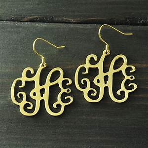aliexpresscom buy monogram earring personalized alloy 3 With where to buy monogram letters