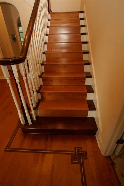 parquet flooring stairs interior interactive staircase design ideas using white wood wall handrail including flor tile