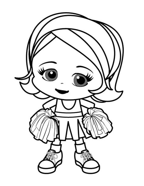 Smiling Cheerleader Coloring Pages Best Place to Color
