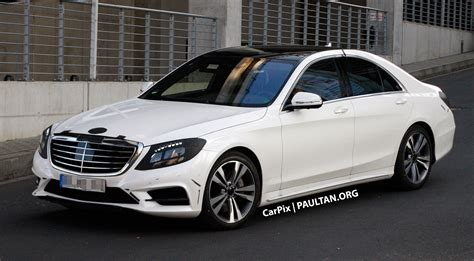 W222 Merc S-Class sighted again, this time in white Image ...