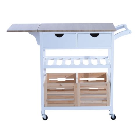 contemporary kitchen cart kitchen trolley cart drop leaf table folding dining modern 2470